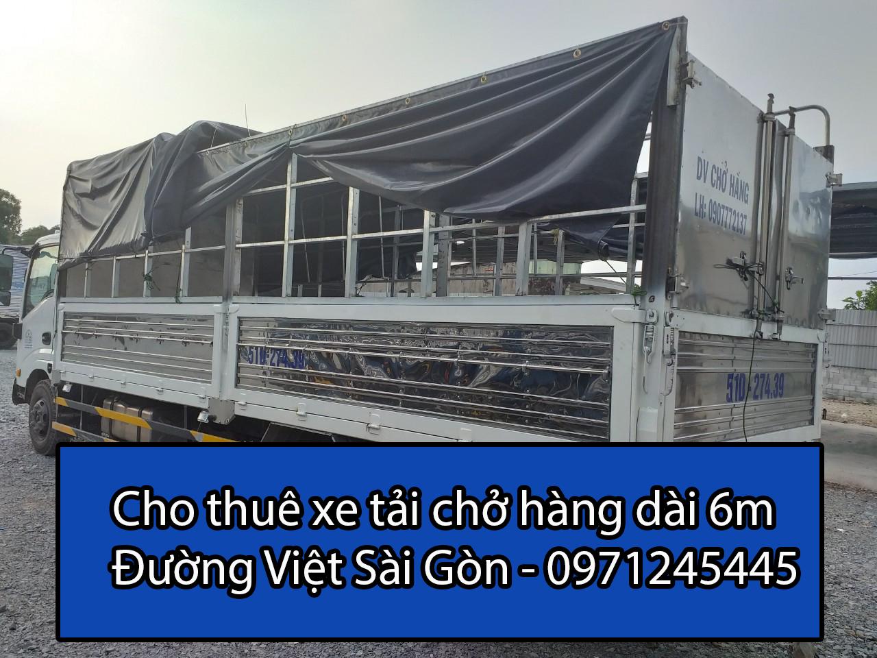 Thuê xe tải chở hàng 6 m giá rẻ tại TPHCM - Đường Việt Sài Gòn