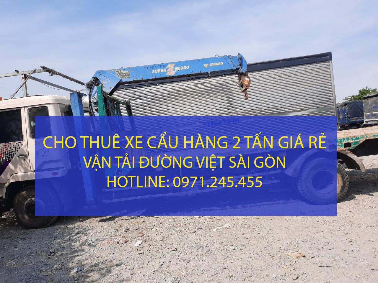 Cho thuê xe cẩu hàng loại 2 tấn – Hotline: : 0971.245.455