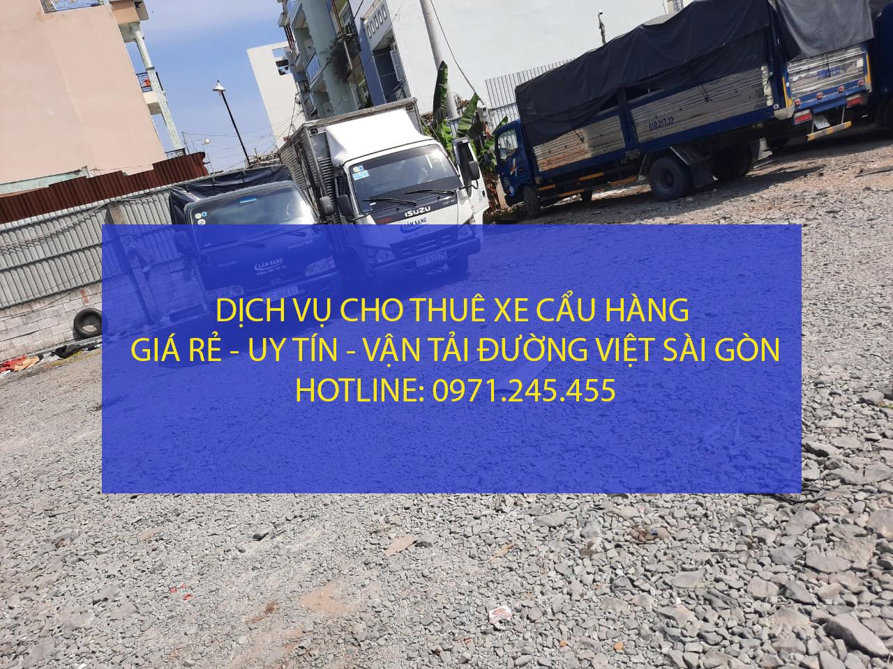 Dịch vụ cho thuê xe cẩu chở hàng – Vận tải Đường Việt