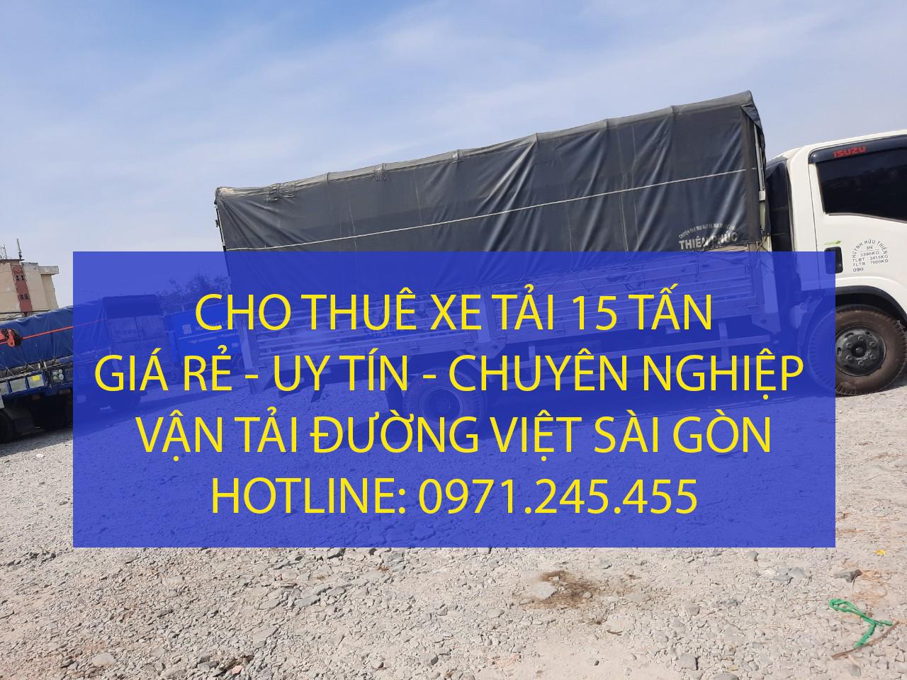 Cho thuê xe tải 15 tấn – xe 3 chân chở hàng tại TPHCM – Vận tải Đường Việt Sài Gòn