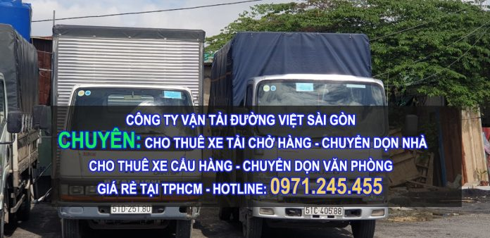 Dịch vụ cho thuê xe tải, xe cẩu hàng, chuyển dọn nhà, văn phòng