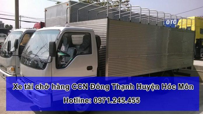 Xe tải chở hàng CCN Đông Thạnh Huyện Hóc Môn - TPHCM