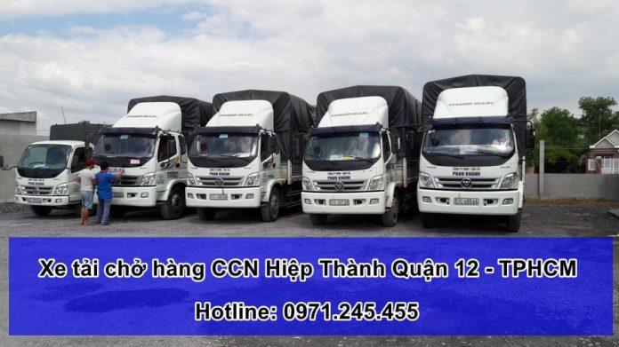 xe tải chở hàng cụm công nghiệp Hiệp Thành quận 12 - TPHCM