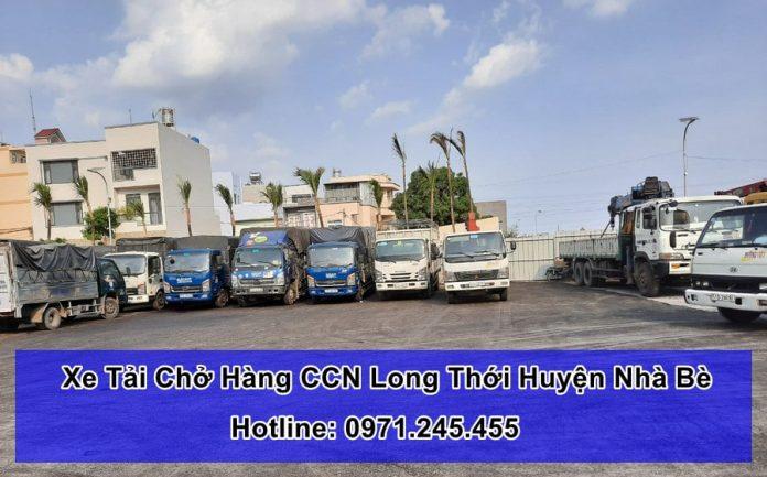 xe tải chở hàng ccn long thới huyện nhà bè tphcm