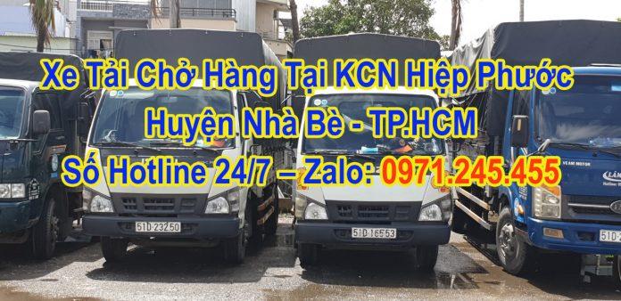 Xe Tải Chở Hàng Tại KCN Hiệp Phước Huyện Nhà Bè - TP.HCM