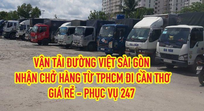 Xe tải chở hàng từ TPHCM đi Cần Thơ