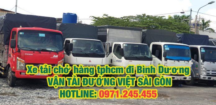 Xe tải chở hàng TPHCM đi Bình Dương