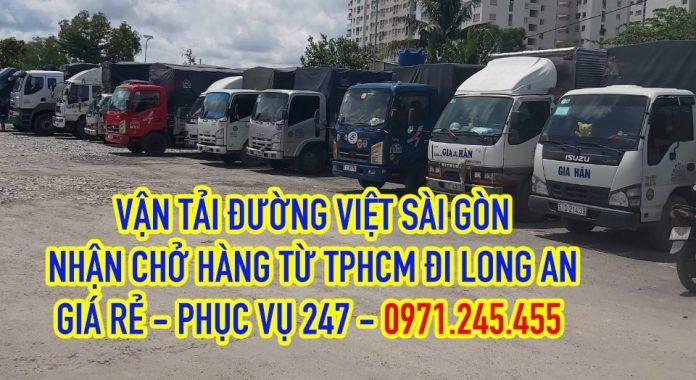 Xe tải chở hàng từ TPHCM đi Long An