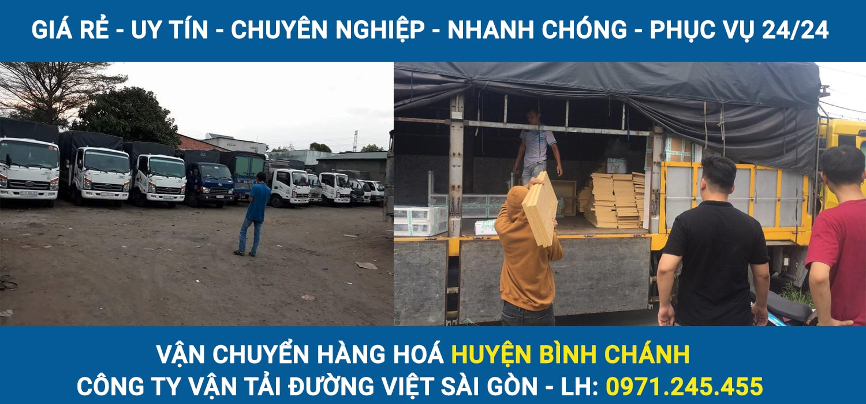 Công ty vận tải Đường Việt Sài Gòn nhận chở hàng, vận chuyển hàng hoá Huyện Bình Chánh đi tỉnh giá rẻ, phục vụ 24/24, an toàn, uy tín.