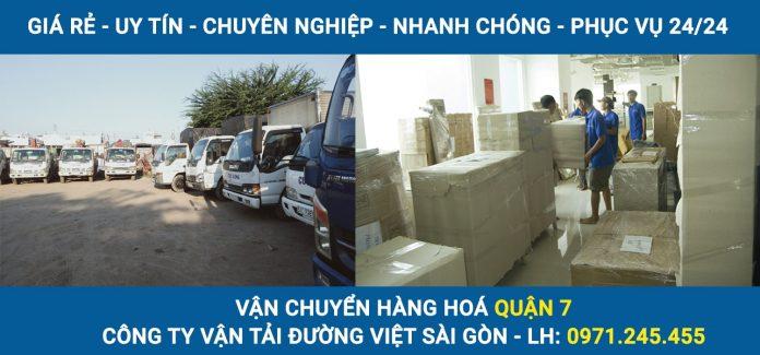 Vận chuyển hàng hoá Quận 7 - Công ty vận tải Đường Việt Sài Gòn