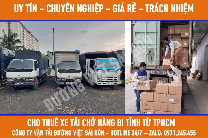 Xe tải chở hàng đi tỉnh từ TPHCM giá rẻ hàng đầu